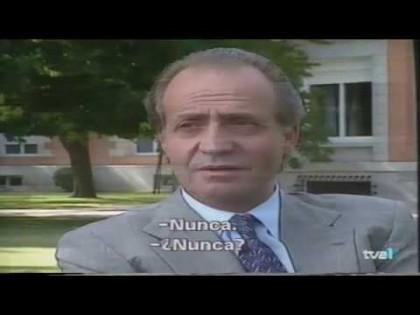 El rey Juan Carlos hablando de pagar impuestos en 1992