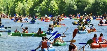 El Sella se llena de canoas