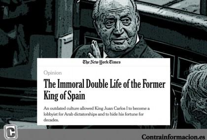 """The New York tacha la monarquía española de """"reliquia del pasado"""" y señala al """"inmoral"""" Juan Carlos"""