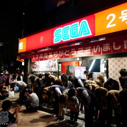Así se despidieron los japoneses del segundo edificio de Sega-Akihabara