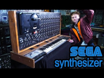 Sintetizador construido a partir de una SEGA Megadrive (Genesis)
