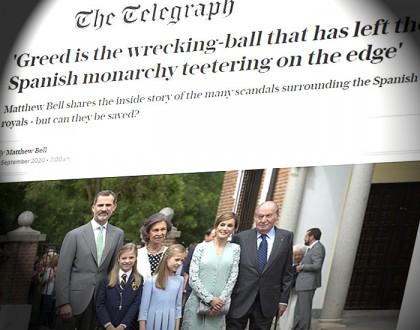 """The Telegraph: """"La avaricia es la bola de demolición que ha dejado tambaleándose a la monarquía española"""""""