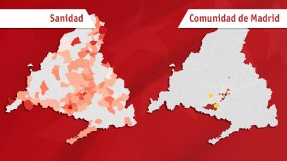 El plan de Sanidad frente al plan de Madrid, en dos mapas
