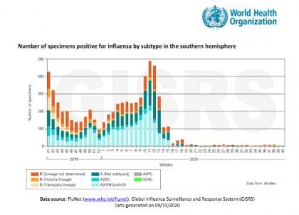 La gripe desaparece en el hemisferio sur