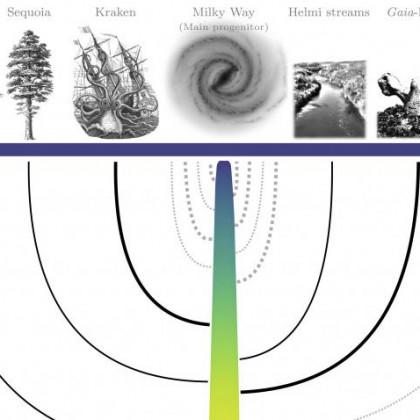 La Vía Láctea canibalizó 20 galaxias, según su primer árbol genealógico generado con inteligencia artificial (ING)
