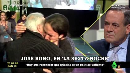 """Pablo Iglesias responde a José Bono en laSexta : """"Esa indecencia engrandece aún más a Anguita"""""""