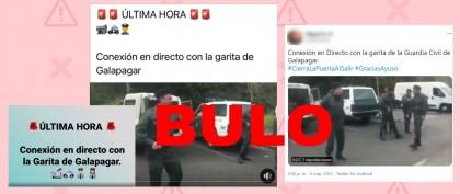 No, estos no son guardias civiles en 'la garita de Galapagar' instalada cerca de la casa de Pablo Iglesias e Irene Montero