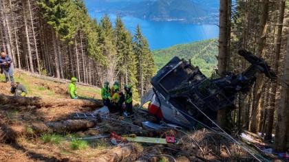 La caída de un teleférico provoca al menos nueve muertos en Italia