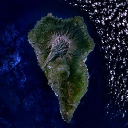 Se produce la erupción volcánica en  La Palma