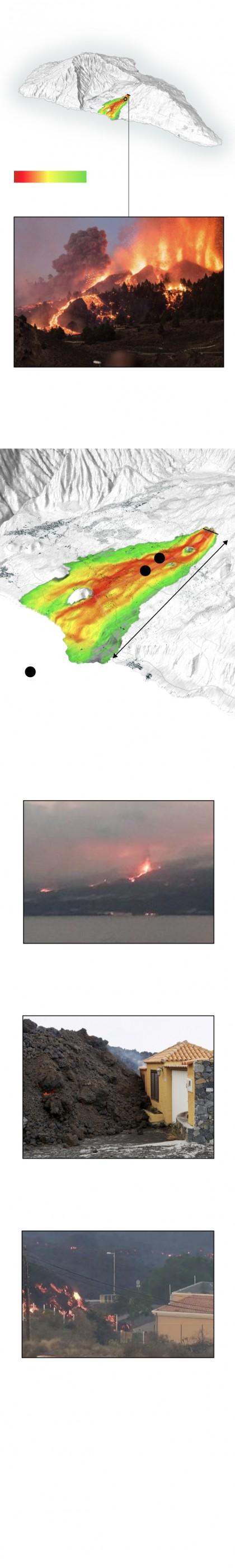 Volcán de La Palma: por dónde se espera que avancen las lenguas de lava hacia el mar