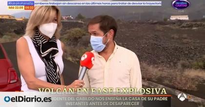 La Guardia Civil y la Policía Local de Los Llanos transportan a Susanna Griso para sortear el cierre de carreteras en La Palma