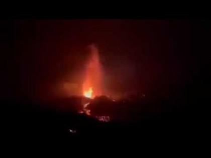 El volcán de la Palma entró en fase explosiva: vídeo de una de las explosiones