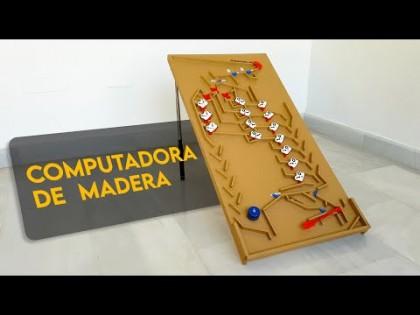 Construyo una computadora de canicas y madera. Así funciona